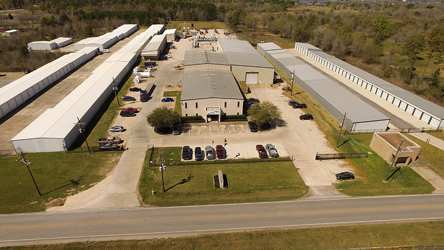 ISO 9001: 2015 Registered Fabrication Plant in Willis, Texas.